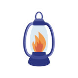Fire torch victory champion flame icon vector illustration. Fire torch victory champion flame icon isolated vector illustration. Victory warm achievement Royalty Free Stock Photos