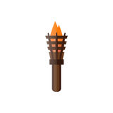 Fire torch victory champion flame icon vector illustration. Stock Images
