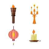 Fire torch victory champion flame icon vector illustration. Royalty Free Stock Photo