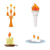Fire torch victory champion flame icon vector illustration. Stock Photography