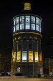 Fire Tower Bucharest during night. Original Fire Tower (Foisorul de foc) in Bucharest during night, today National Museum of the Firemen. Built in 1890, two Stock Images