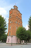 Fire tower with clock (1911), Vinnytsia, Ukraine Stock Photos