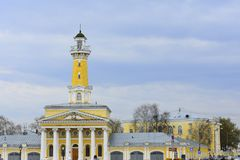 Fire tower in Kostroma — an outstanding monument of architecture of the era of classicism, one of the attractions of the city. The main decoration of The Stock Image