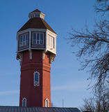 Fire tower. Is located in the centre of the city near the little garden Royalty Free Stock Images