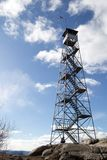 Fire tower at Mount Beacon. This fire tower in mount Beacon was restored and opened to the public in 2013 Stock Image