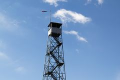 Fire tower at Mount Beacon. This fire tower in mount Beacon was restored and opened to the public in 2013 Stock Photography