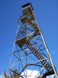 Fire Tower on Mount Pisgah. Fire tower on the top of Mt Pisgah in Monmouth, Maine Stock Photos