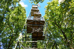Fire Tower. An old fire tower at Cook Forest Pennsylvania Royalty Free Stock Image