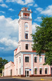 Fire tower.  Polotsk. Tower of fire depot of the city of Polotsk. Belarus, summer of 2013 Stock Photo