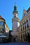 Fire tower in Sopron, Hungary. View of Tűztorony, Fire Tower in Sopron, Hungary Stock Image