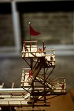Fire Tower Wooden Model. Chinese style Fire tower model made by wooden material Royalty Free Stock Photos