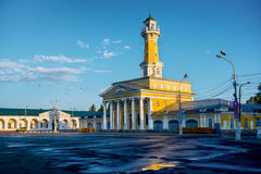 Fire town in Russian tower Kostroma Stock Images