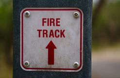 Fire track sign royalty free stock photos