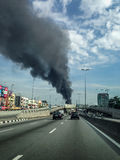 Fire tragedy in Selangor Malaysia Stock Photography