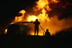 FIRE IN TRAIN Stock Images