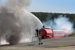 Fire train Stock Photos