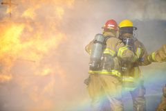 Fire training exercise Royalty Free Stock Images