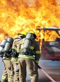 Fire training exercise Royalty Free Stock Photo