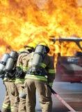 Fire training exercise Royalty Free Stock Photo