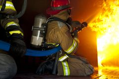 Fire training exercise royalty free stock photos