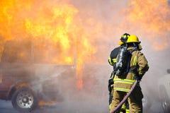 Fire training exercise Stock Photo