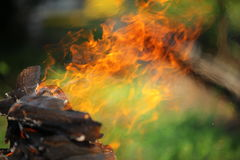 The fire. Trembling of air from a fire flame Royalty Free Stock Images