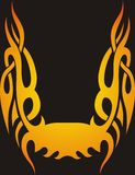 Fire tribal frame. On black background Stock Photography