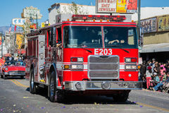 Fire Truck in the 115th Annual Golden Dragon Parade Stock Photos