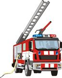 Fire truck. Scene of the special car for fight with fire Stock Photo