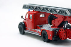 Fire truck. Red fire truck toy over white background Stock Photography