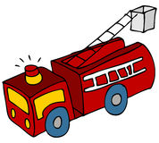 Fire Truck. An image of a cartoon fire engine truck Stock Image