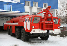 Fire truck. All-wheel-drive red fire truck Stock Images