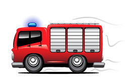 Fire truck. The fire truck in motion Royalty Free Stock Photo