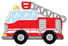 Fire truck. Illustration of a fire truck Stock Images