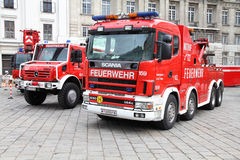 Fire truck. VIENNA - SEPTEMBER 8: Fire fighting vehicles on September 8, 2011 in Vienna. On September 9-11, 2011 Feuerwehrfest (Fire Fighters Festival) took Stock Photography