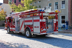 Fire Truck. Arriving on scene in Harpers Ferry, West Virginia Stock Photography