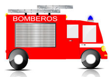 Fire Truck. Drawing of a fire truck on white background Royalty Free Stock Image