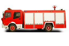 Fire truck. Isolated on white background Stock Photos