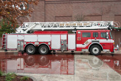 Fire truck. Of the New Orleans Fire Department on a rainy day Stock Photo