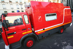 Fire truck. French fire truck parked in the street of paris Royalty Free Stock Photography