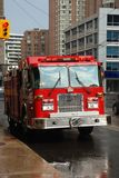 Fire truck. On the city street Stock Images