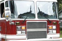 Fire Truck. Red Fire Truck or engine with large windows Royalty Free Stock Image