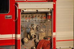 Fire truck. Pumper with water Royalty Free Stock Photo