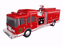 Fire Truck. On white background Royalty Free Stock Photography