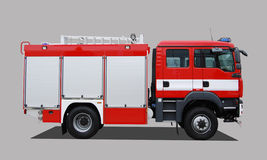 Fire truck. Isolated on 50% gray Stock Image