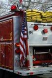 Fire Truck. Rear of a Firetruck Stock Photo