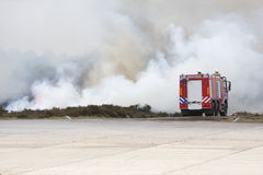 Fire truck in action Royalty Free Stock Photos