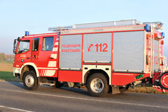 German fire truck parked Royalty Free Stock Photo