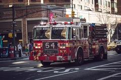 Fire truck in action royalty free stock image