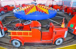 Fire Truck amusement ride Royalty Free Stock Photos